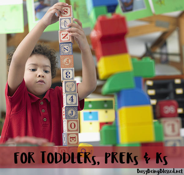 For Toddlers, Pre-K & Kindergarten Students